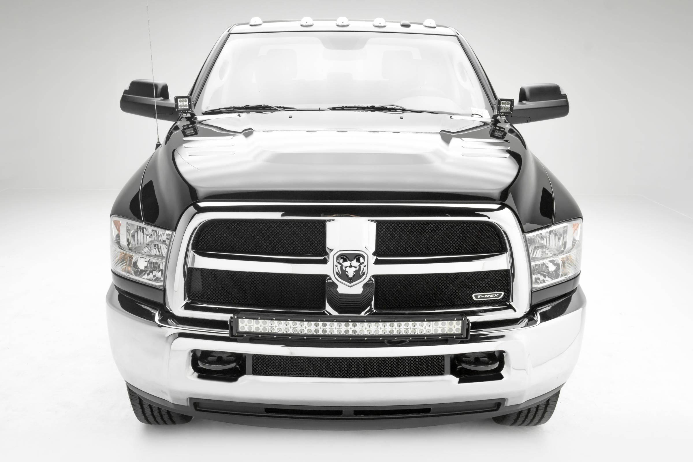 2010 2019 Ram 2500 3500 Front Bumper Top Led Bracket To Mount 1 30 Inch Led Light Bar Pn Z324522 Jeeperz Creeperz